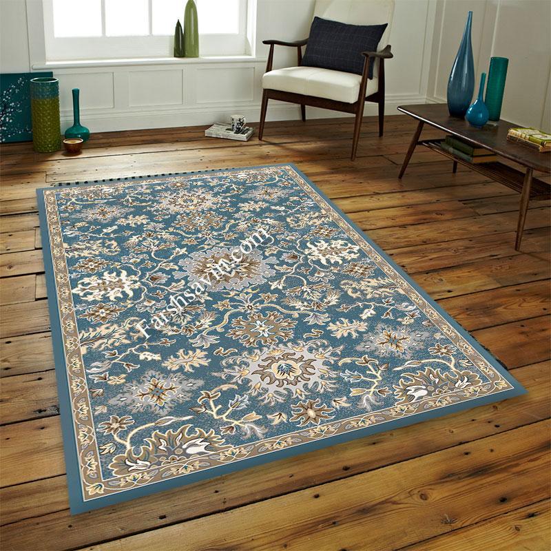 فرش ساوین 4041 آبی فرش با دوام