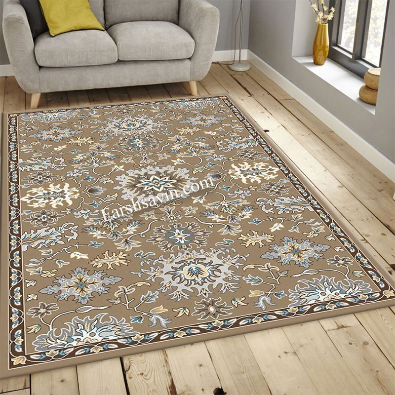 فرش ساوین 4041 شکلاتی فرش شیک