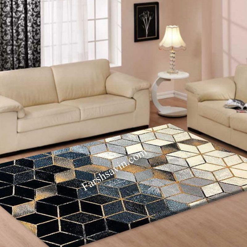 فرش ساوین 4043 مشکی فرش خاص