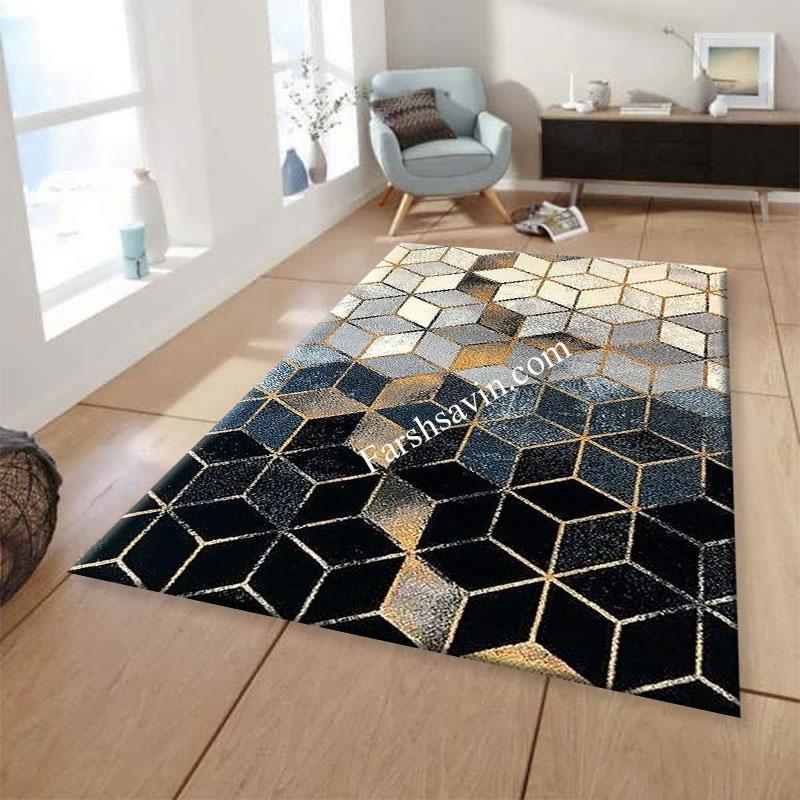 فرش ساوین 4043 مشکی فرش پرفروش
