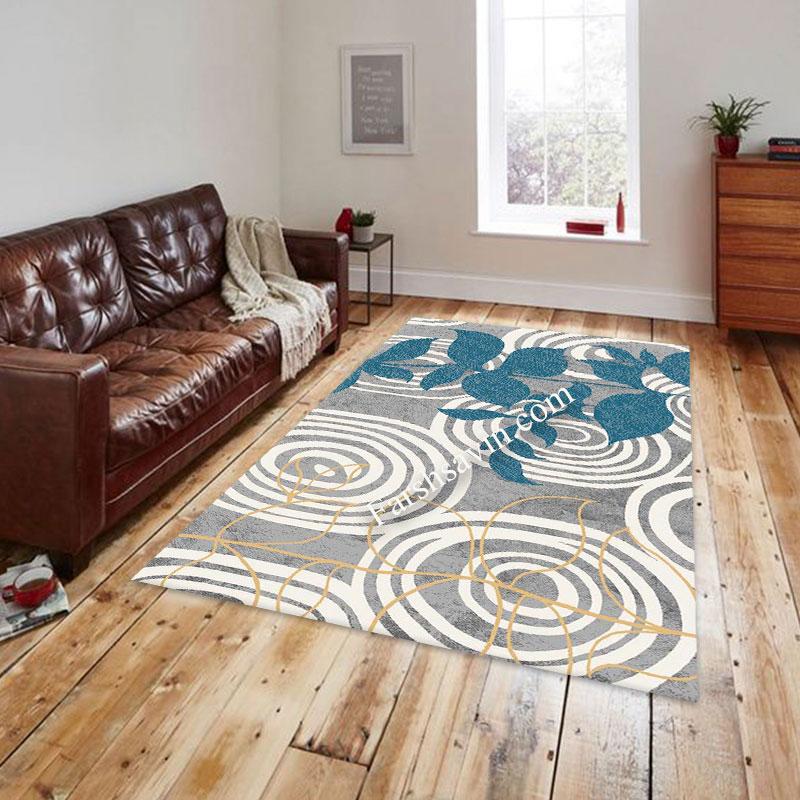 فرش ساوین 4050 نقره ای فرش مدرن