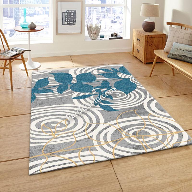 فرش ساوین 4050 نقره ای فرش ارزان