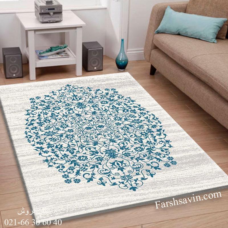 فرش ساوین 4042 کرم فرش باکیفیت