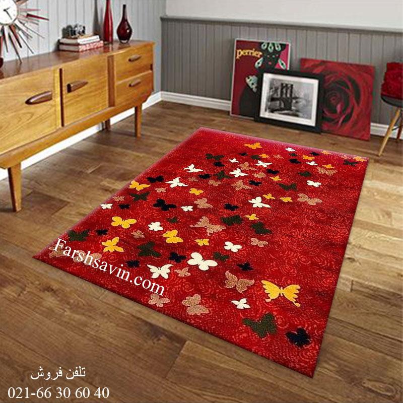 فرش ساوین 4054 لاکی فرش اتاق خواب