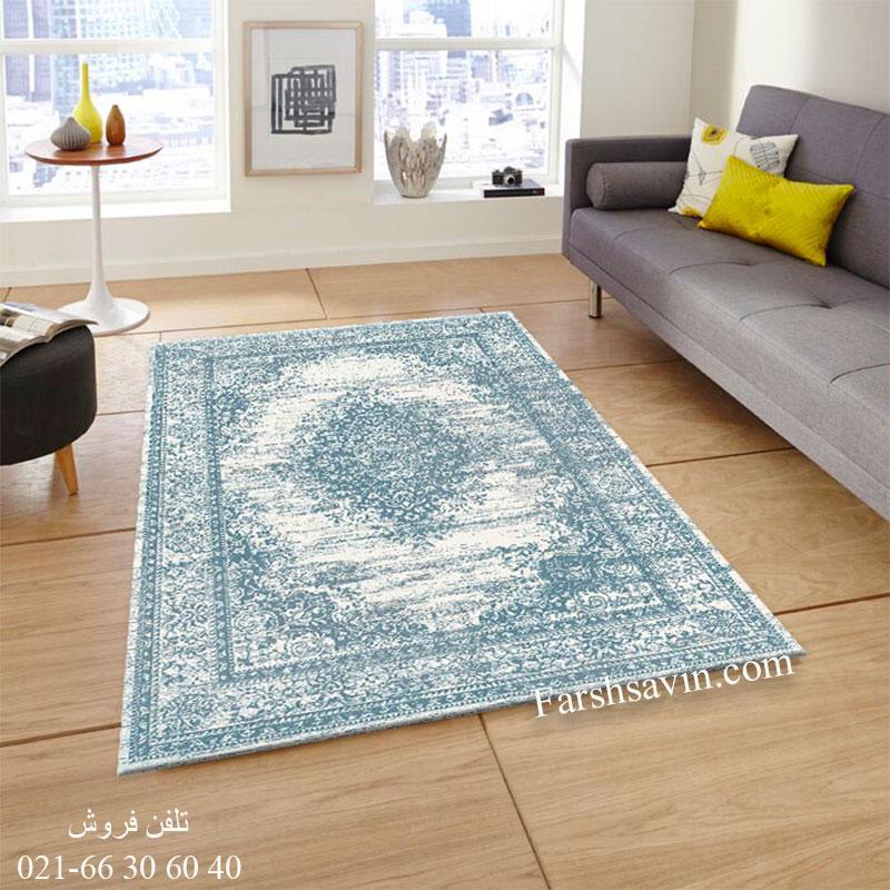 فرش ساوین 4062 کرم فرش باکیفیت
