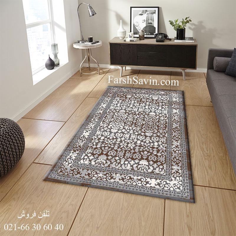 فرش 4068 طوسی ساوین فرش زیبا