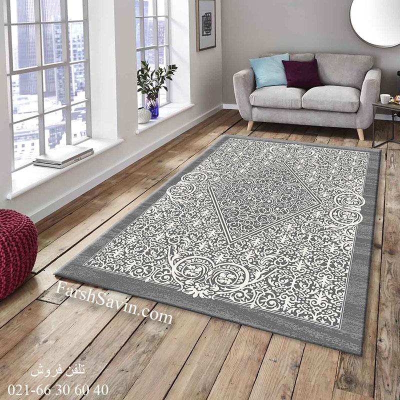 فرش 4069 طوسی ساوین فرش بادوام