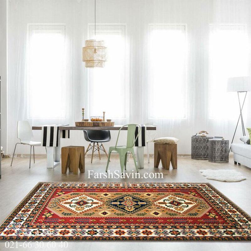 فرش ساوین آنیتا شکلاتی فرش زیبا