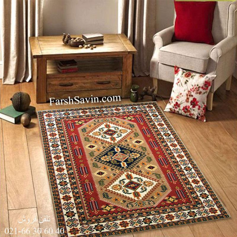 فرش ساوین آنیتا شکلاتی فرش خاص