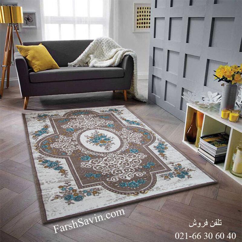فرش ساوین 1500 آبی فرش خاص