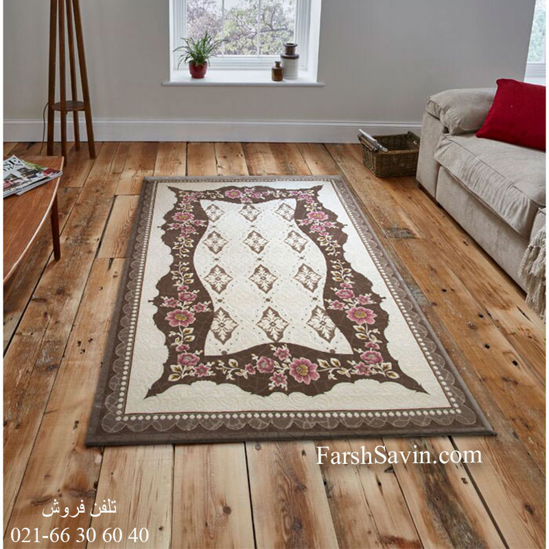 فرش ساوین 1507 صورتی فرش خاص
