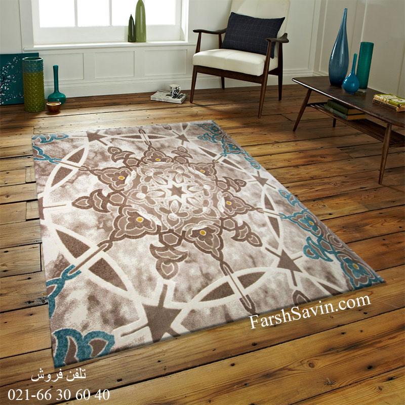 فرش ساوین 1509 آبی قیمت فرش 1509 آبی
