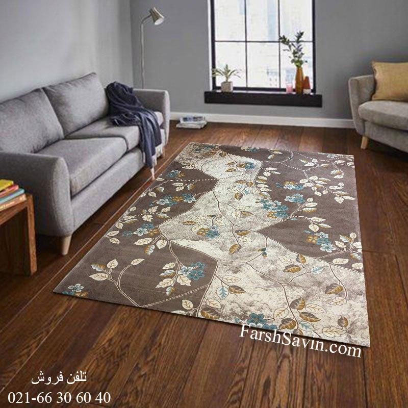 فرش ساوین 1512 آبی فرش بادوام