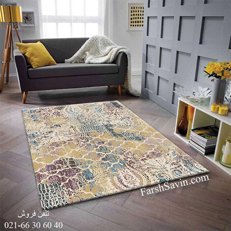 فرش ساوین 7265 کرم فرش خاص