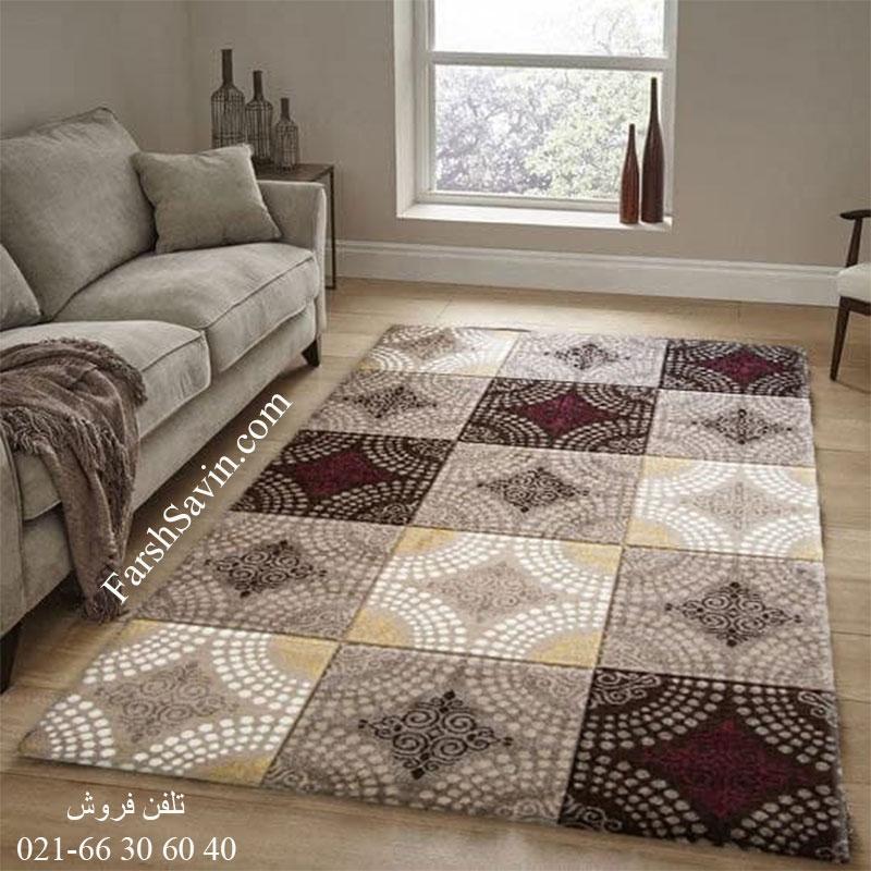فرش ساوین گلاره شکلاتی فرش خاص