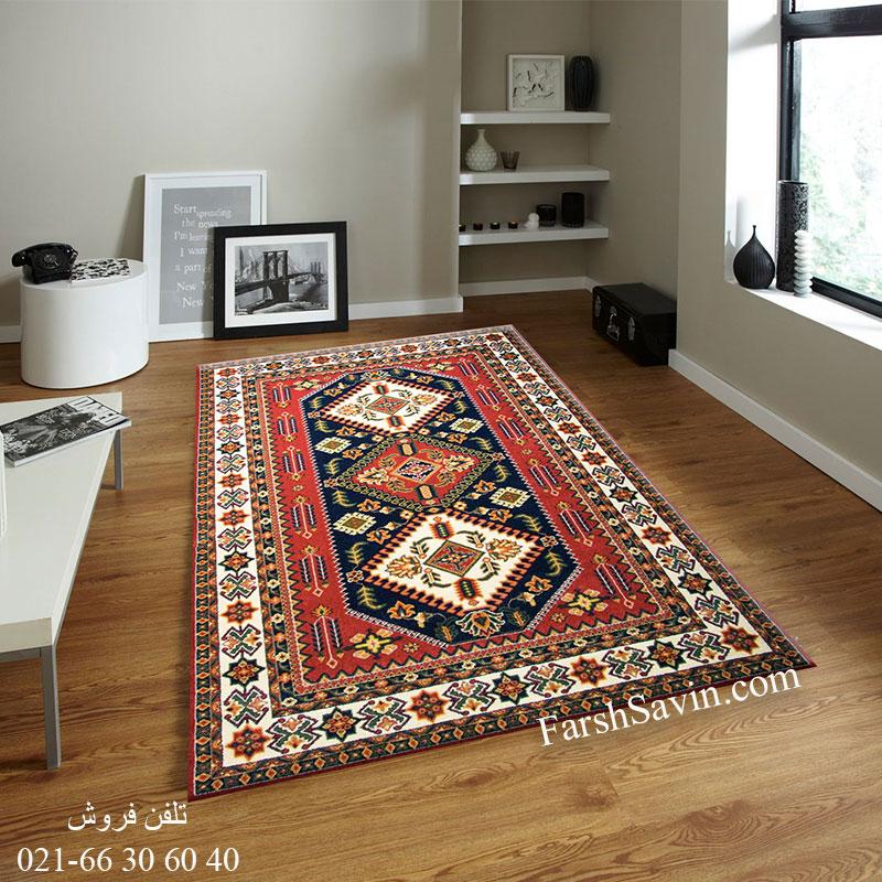 فرش ساوین آنیتا لاکی فرش اتاق پذیرایی