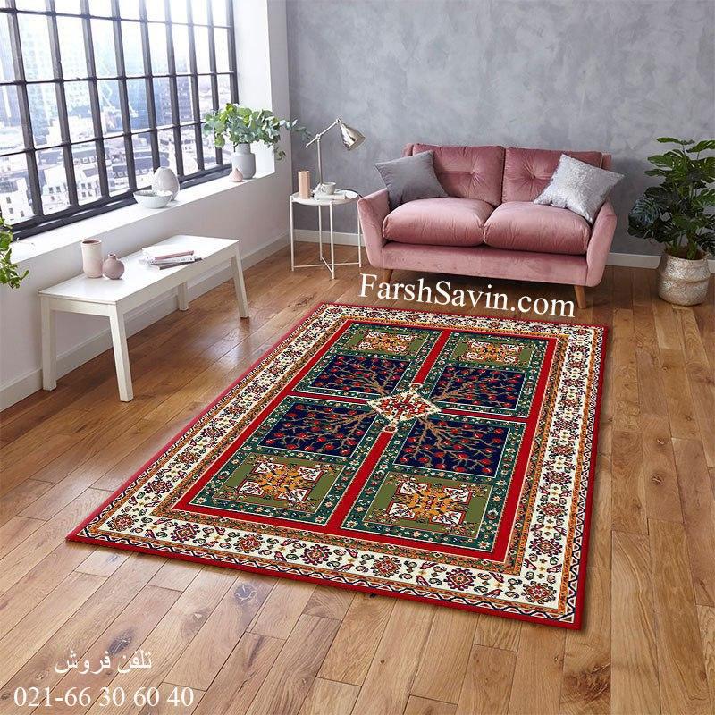 فرش ساوین باغ انار لاکی فرش خاص