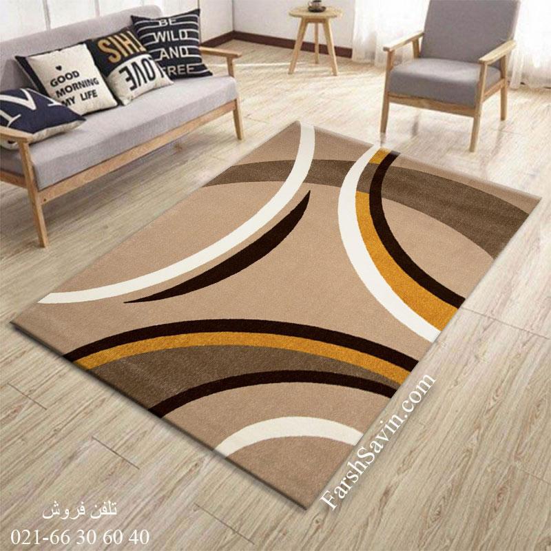 فرش ساوین پرهام شکلاتی فرش پرفروش
