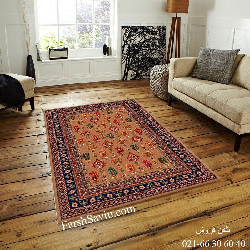 فرش ساوین سارگل شکلاتی فرش مناسب اتاق خواب