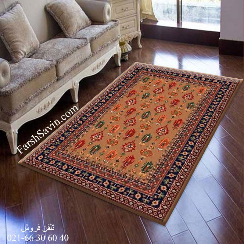 فرش ساوین سارگل شکلاتی فرش با کیفیت