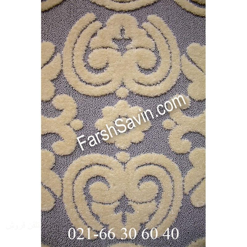 فرش ساوین 7410 نقره ای روشن فرش ارزان