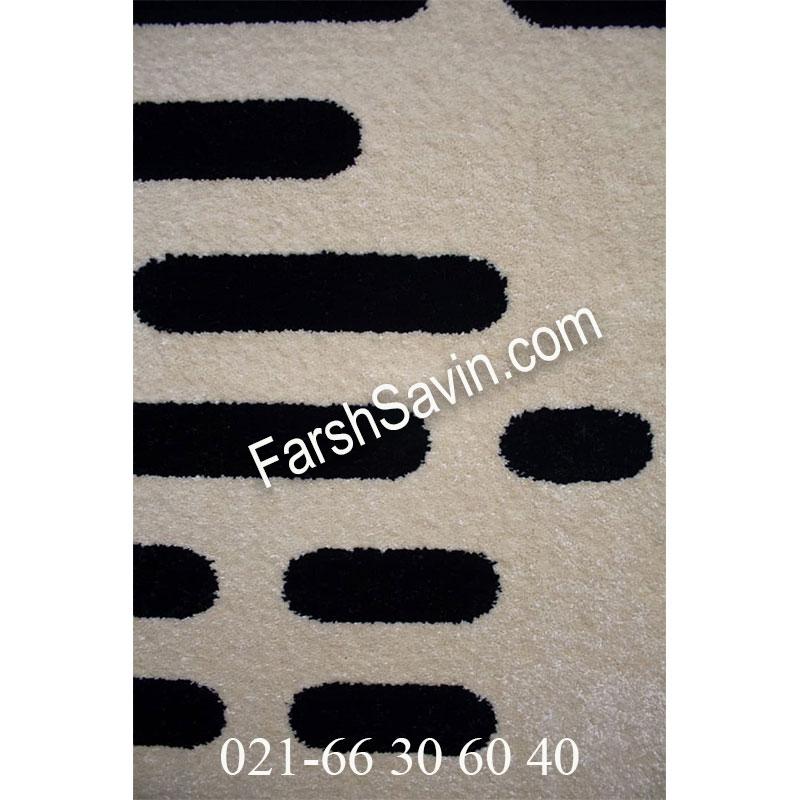 فرش ساوین 4020 مشکی فرش مشکی