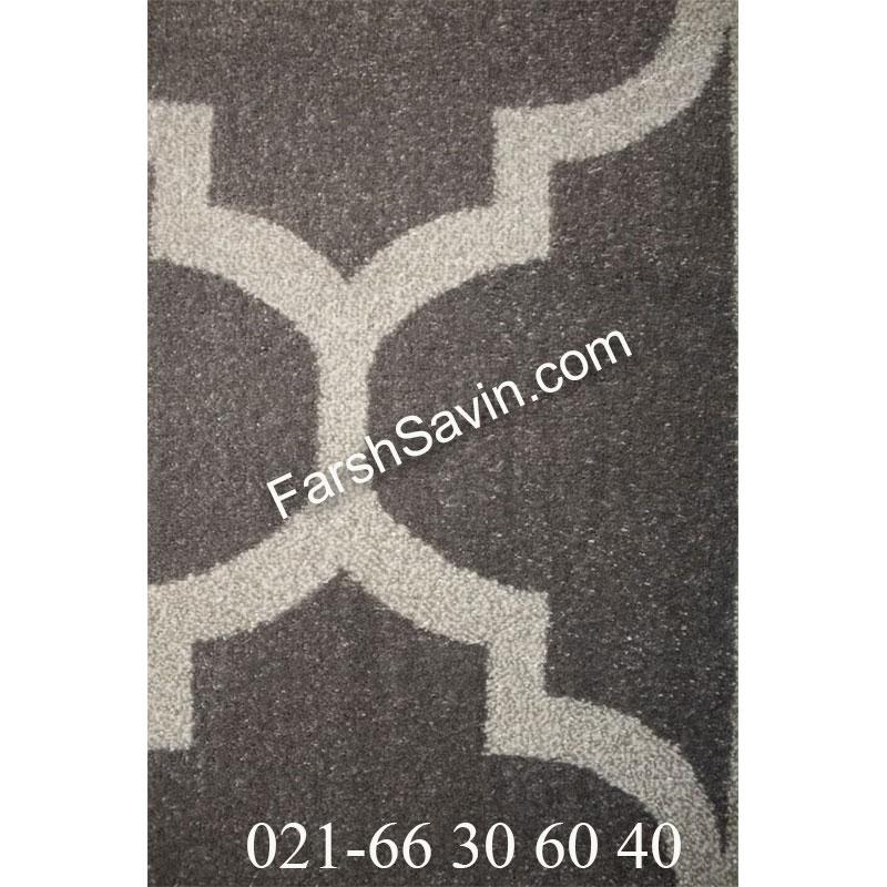 فرش ساوین 4025 طوسی فرش بادوام