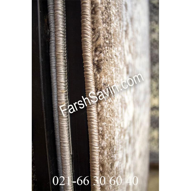 فرش ساوین 4068 شکلاتی فرش با کیفیت