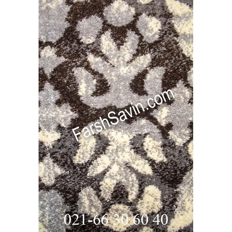 فرش ساوین 4068 طوسی فرش با کیفیت