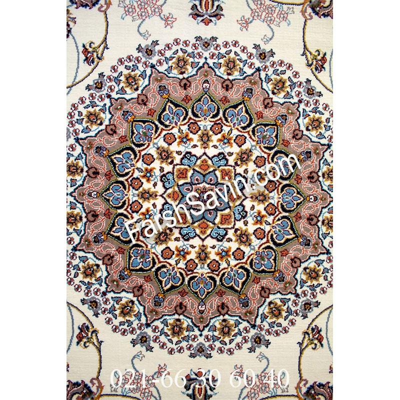 فرش ساوین 4509 کرم فرش اتاق خواب
