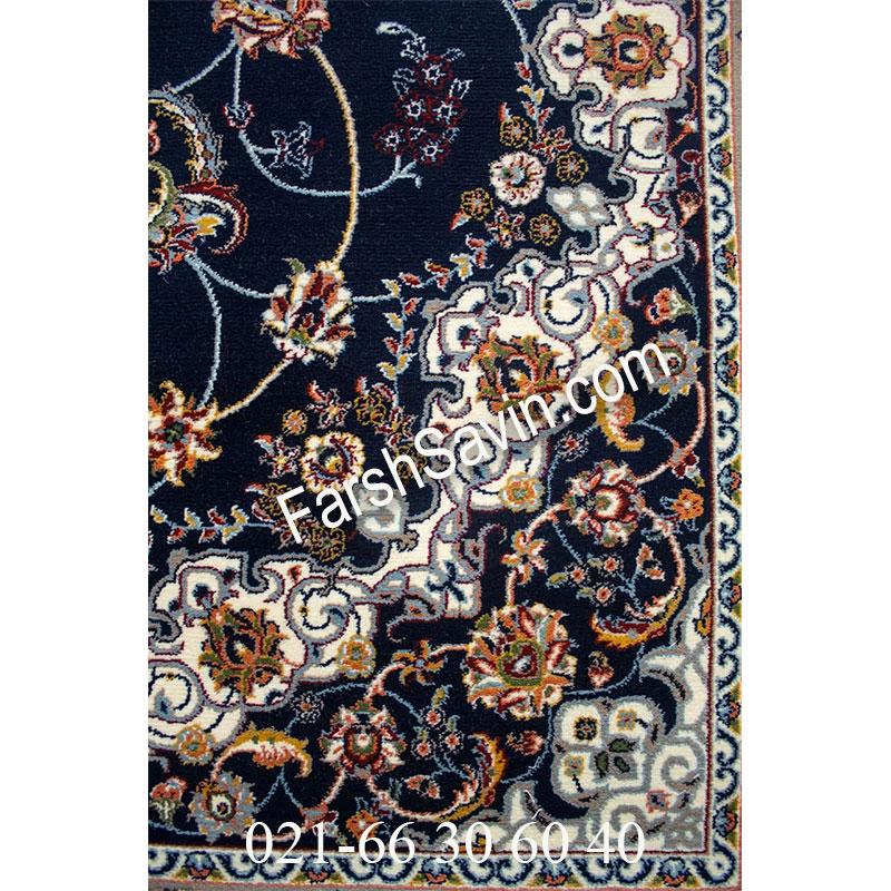 فرش ساوین 4509 سرمه ای فرش خاص