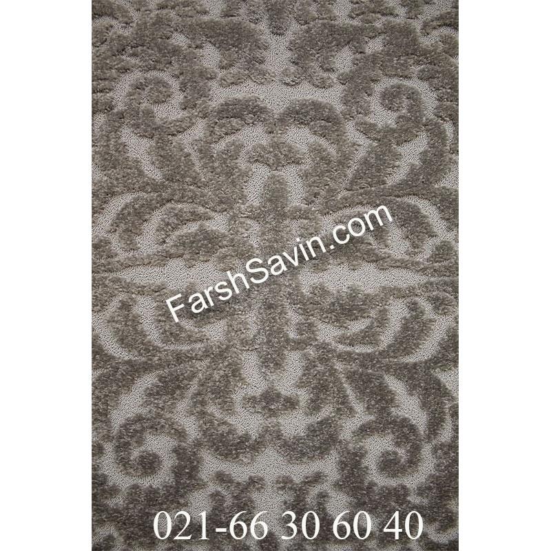 فرش ساوین 7401 نقره ای روشن فرش خاص