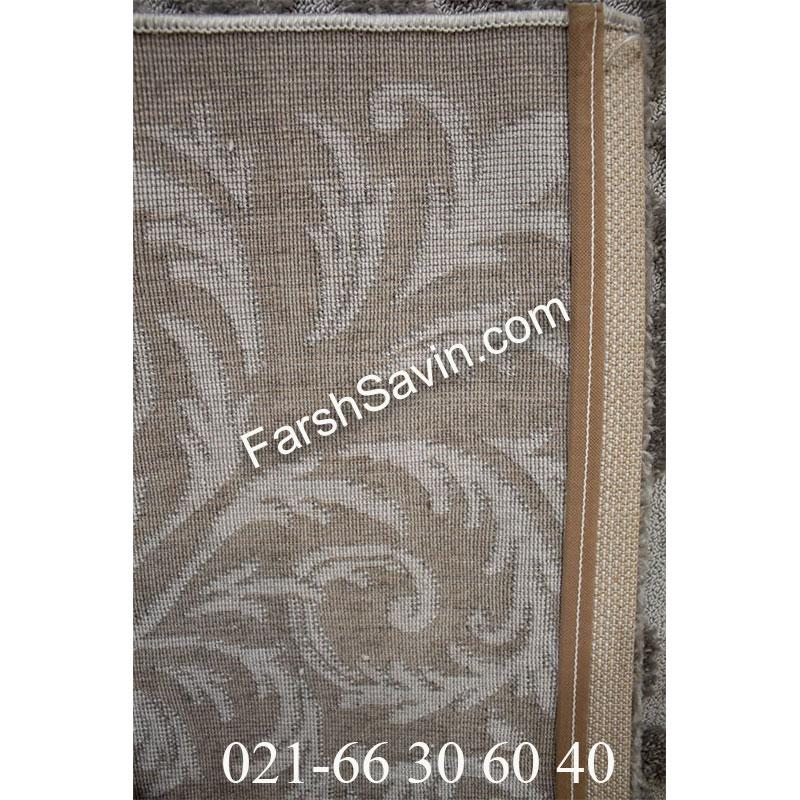 فرش ساوین 7401 نقره ای روشن فرش اتاق خواب