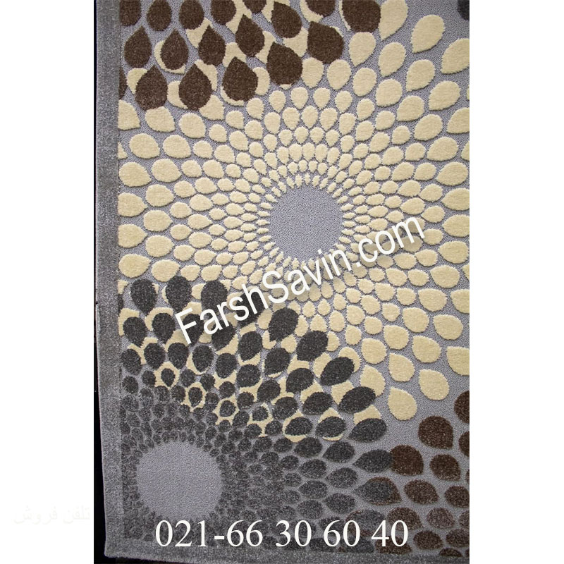 فرش ساوین 7404 نقره ای روشن فرش ارزان