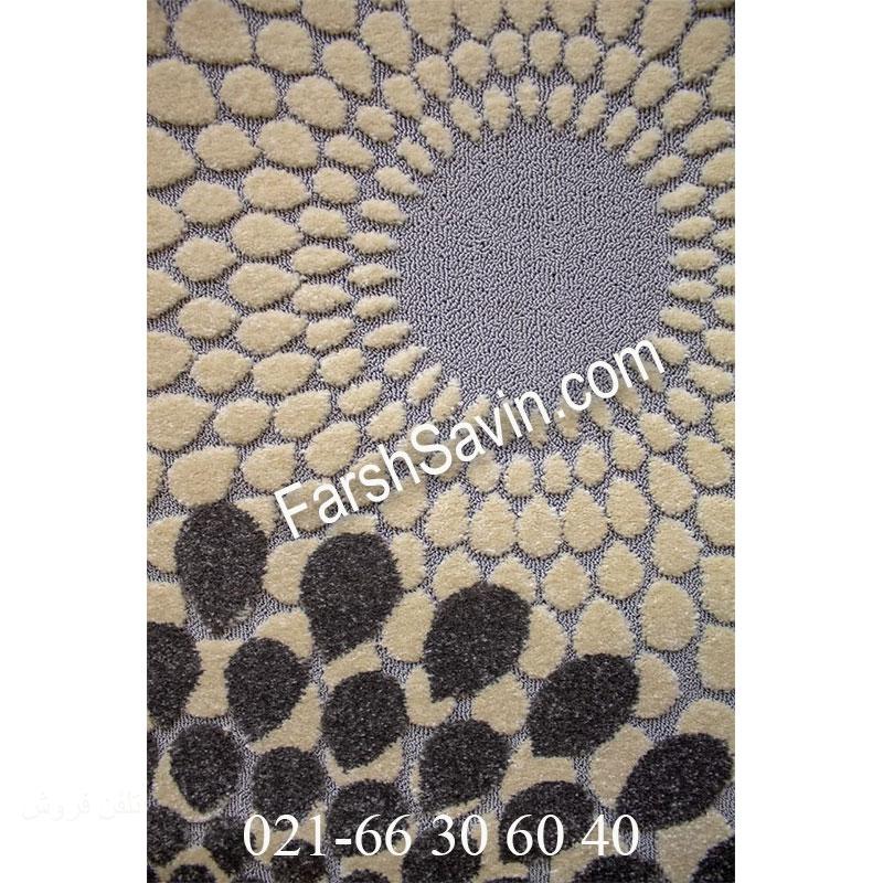 فرش ساوین 7404 نقره ای روشن فرش با کیفیت