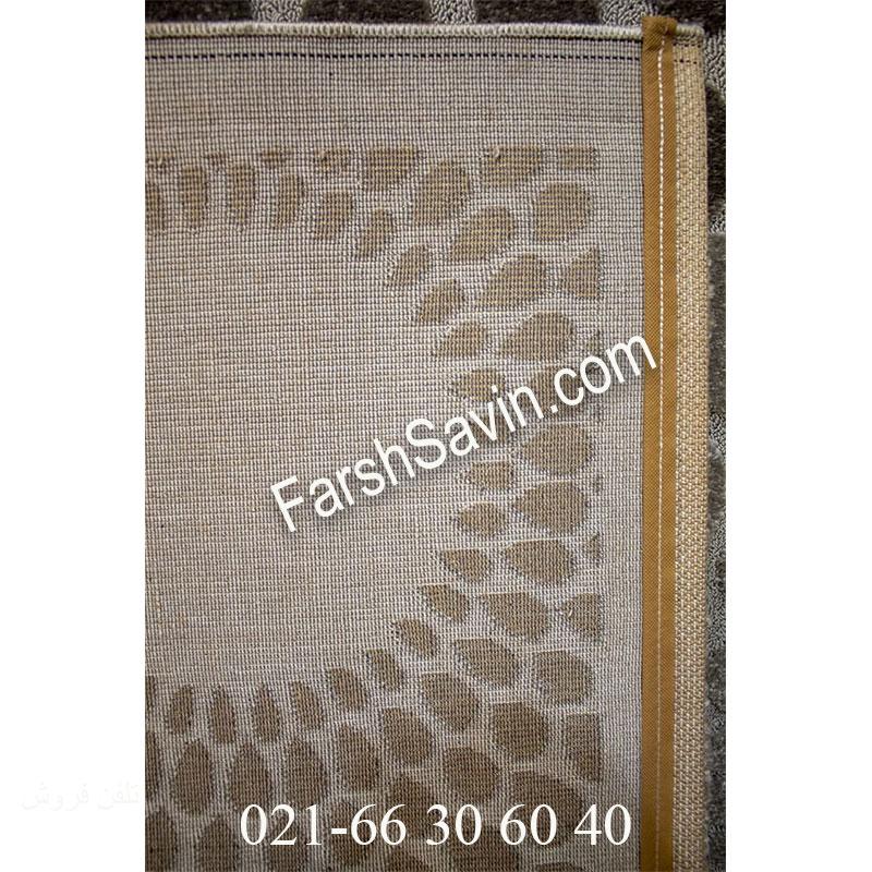 فرش ساوین 7404 نقره ای روشن فرش خاص
