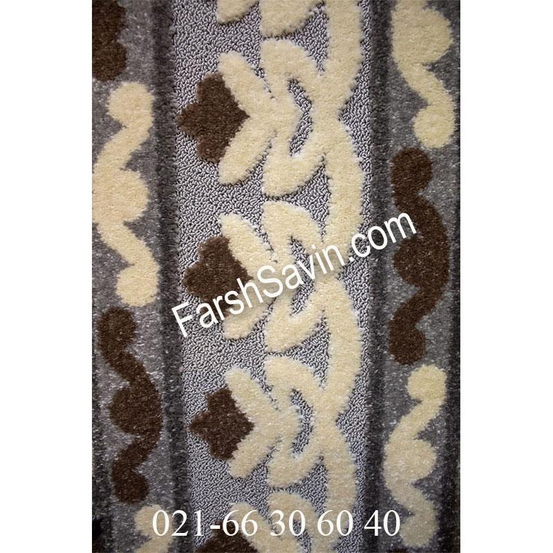 فرش ساوین 7409 نقره ای روشن فرش ارزنده