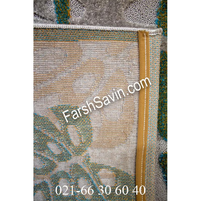 فرش ساوین 7420 نقره ای روشن فرش خاص