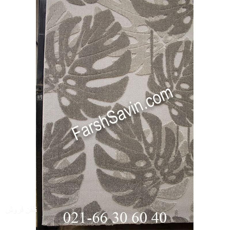 فرش ساوین 7420 طوسی فرش طرح جدید