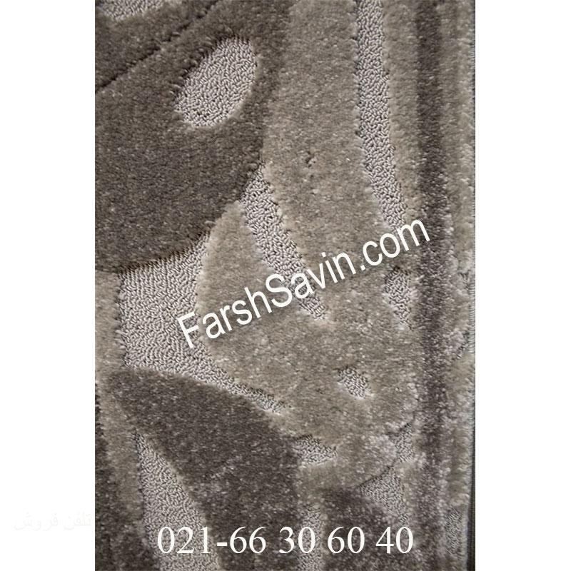 فرش ساوین 7420 طوسی فرش ارزان