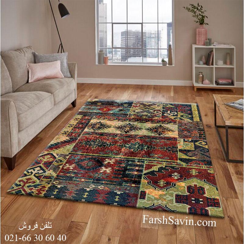 فرش ساوین 7511 چهل تیکه فرش پرفروش