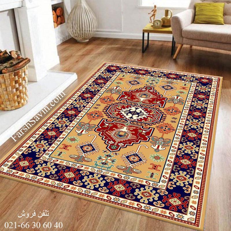 فرش ساوین طوبی 2 عسلی فرش چشم نواز