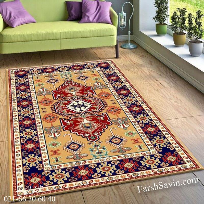 فرش ساوین طوبی 2 عسلی فرش سنتی