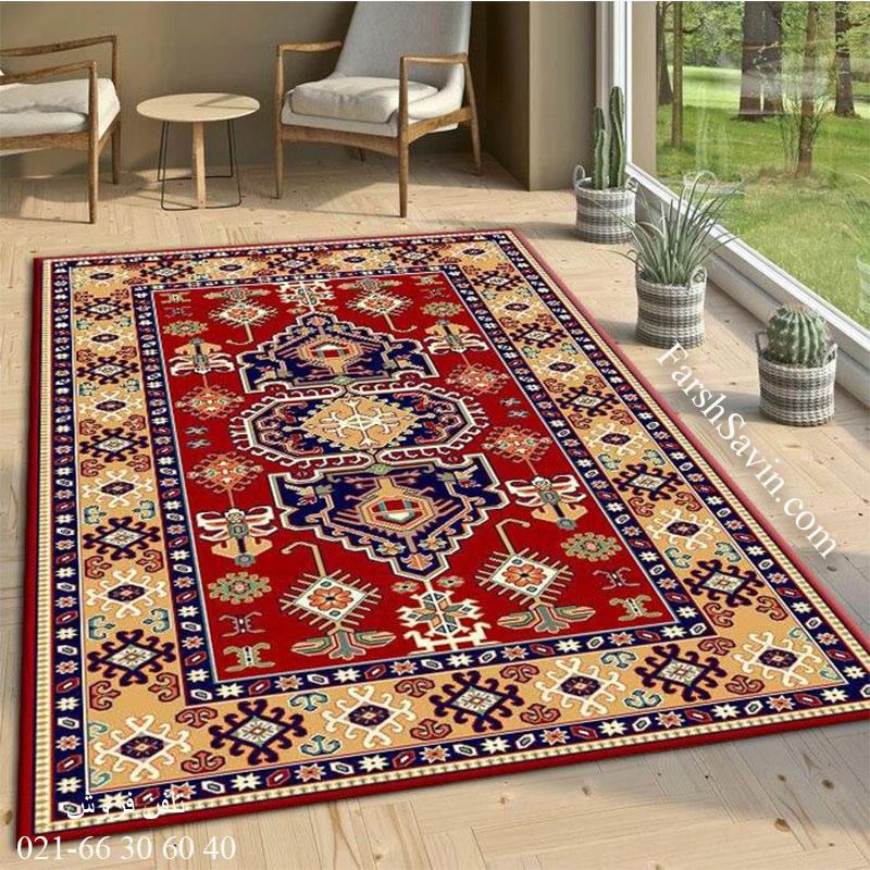 فرش ساوین طوبی 2 لاکی فرش عشایری