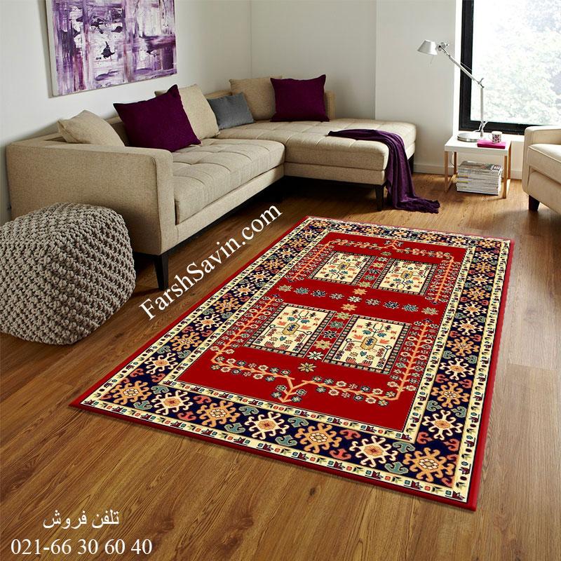 فرش ساوین قشقایی 2 لاکی فرش سنتی