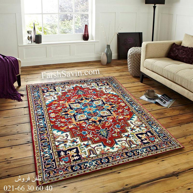 فرش ساوین هریس لاکی فرش سنتی