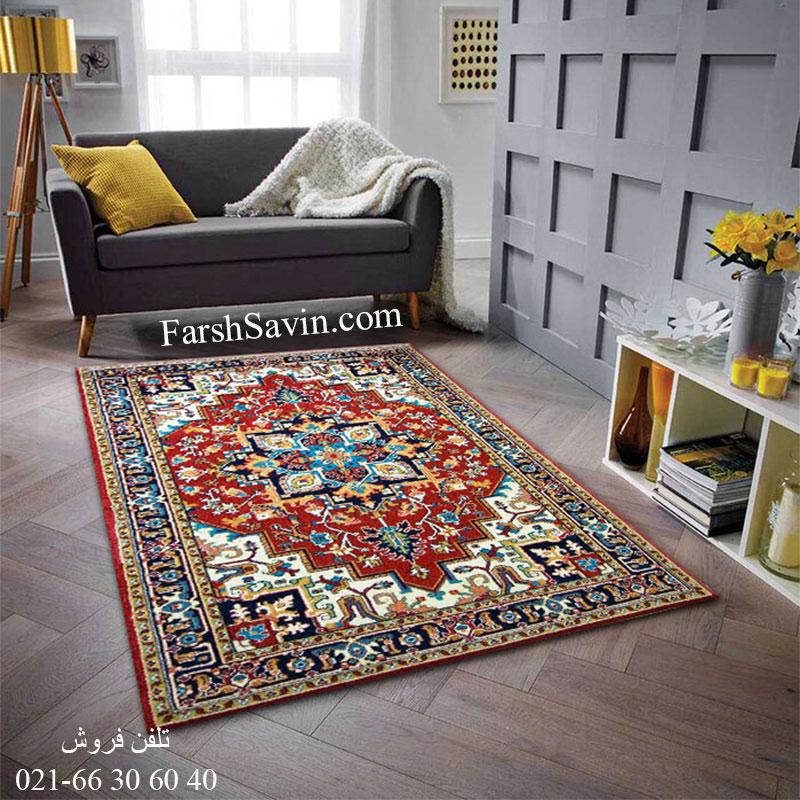 فرش ساوین هریس لاکی فرش خوش نقشه