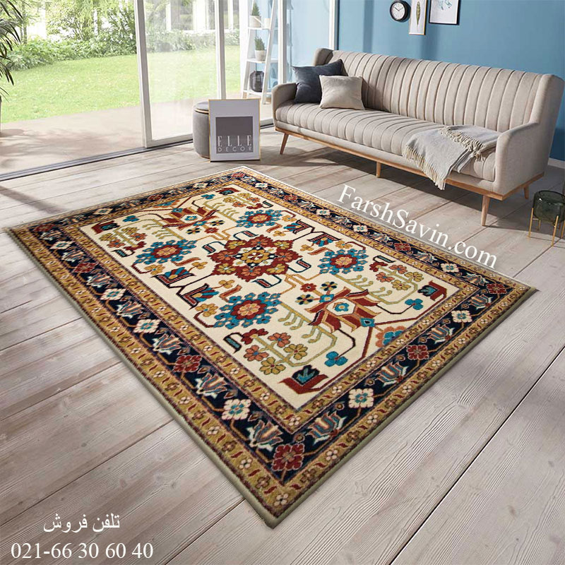 فرش ساوین مهربان کرم فرش خوش نقشه