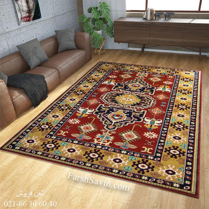 فرش ساوین طوبی لاکی فرش شیک