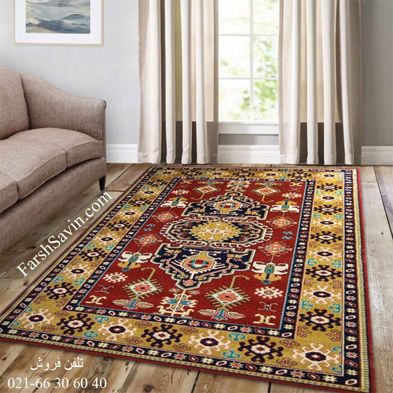 فرش ساوین طوبی لاکی فرش دستبافت